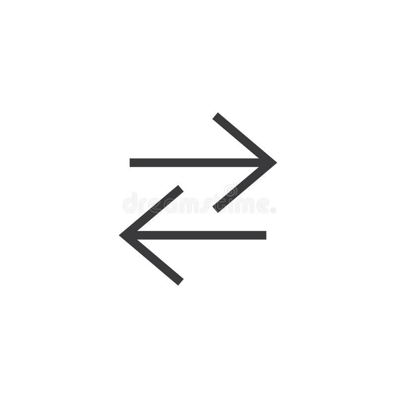 Icône de flèche pixel parfait d'isolement avec le style plat à l'arrière-plan blanc pour UI, APP, site Web, logo Illustration de  illustration stock