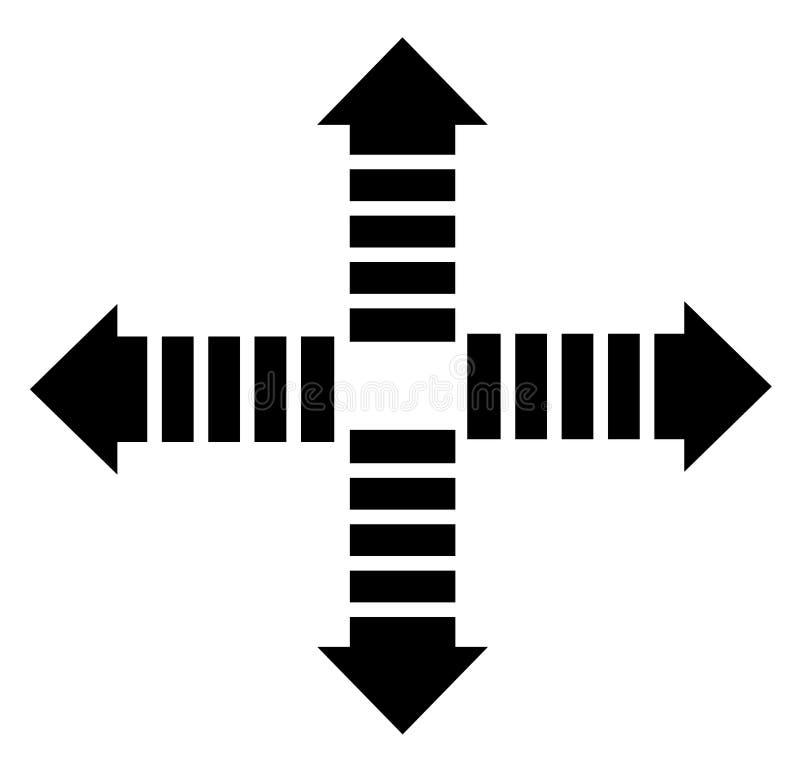 icône de flèche sur le fond blanc vers le bas, de retour, après, vers le haut du symbo de flèche illustration libre de droits