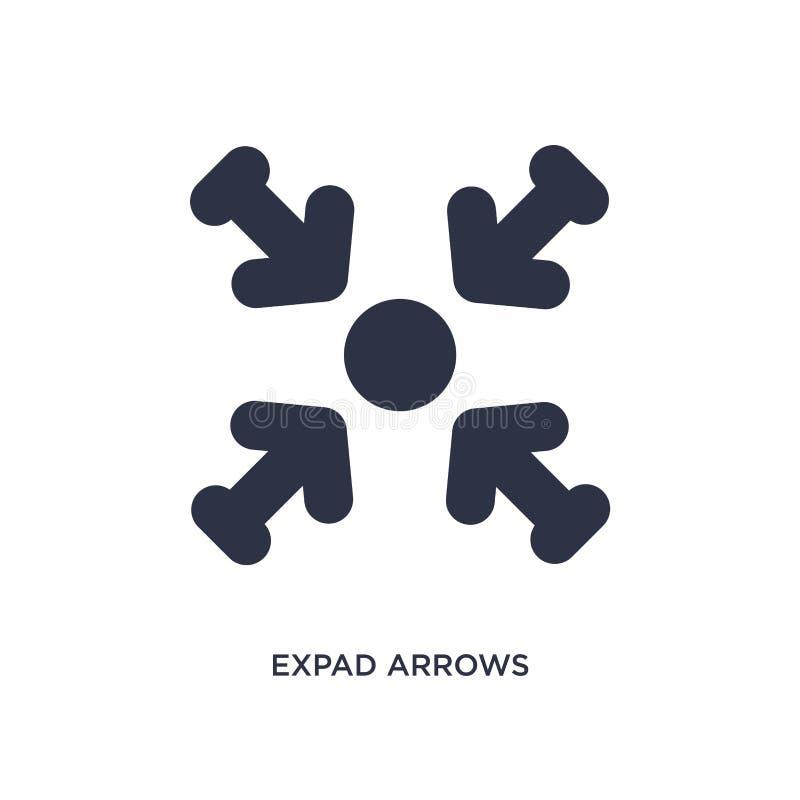 icône de flèches d'expad sur le fond blanc Illustration simple d'élément de concept de flèches illustration libre de droits
