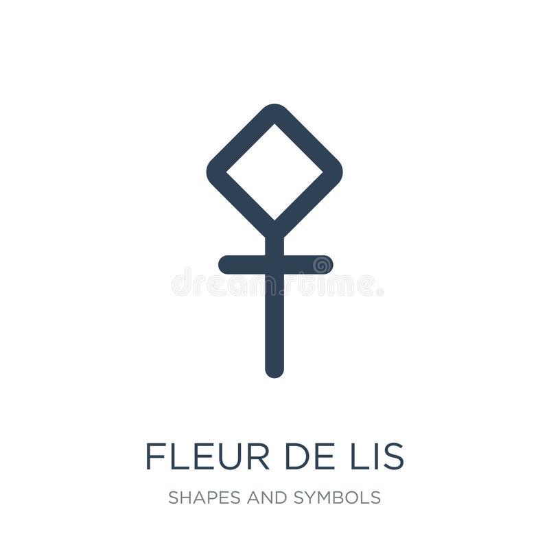 icône de fleur de lis dans le style à la mode de conception icône de fleur de lis d'isolement sur le fond blanc icône de vecteur  illustration libre de droits