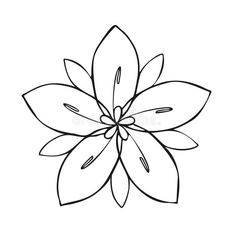 Icône de fleur de saison, style simple illustration libre de droits