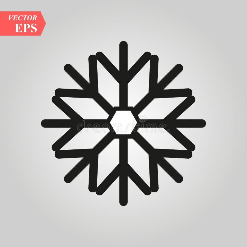 Icône de flocon de neige à l'arrière-plan plat à la mode de style, jpg d'image, vecteur ENV, Web plat, icône matérielle, illustra illustration stock