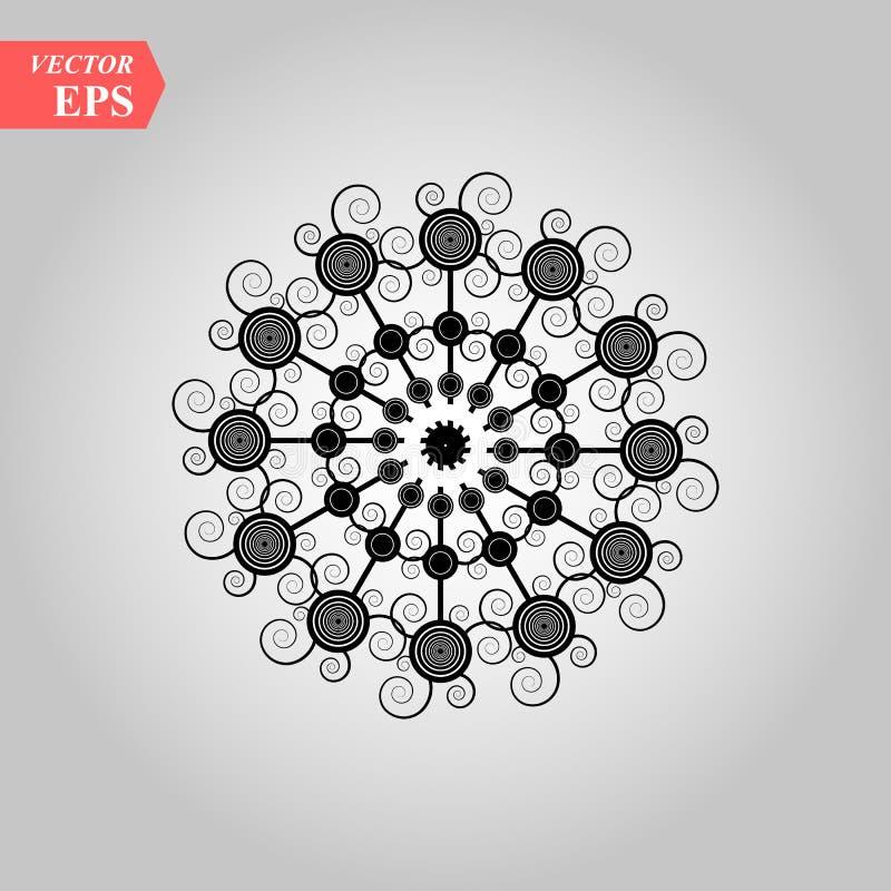 Icône de flocon de neige de noir de vecteur Icônes simples de flocon de neige d'isolement sur le fond blanc pour la conception et illustration libre de droits