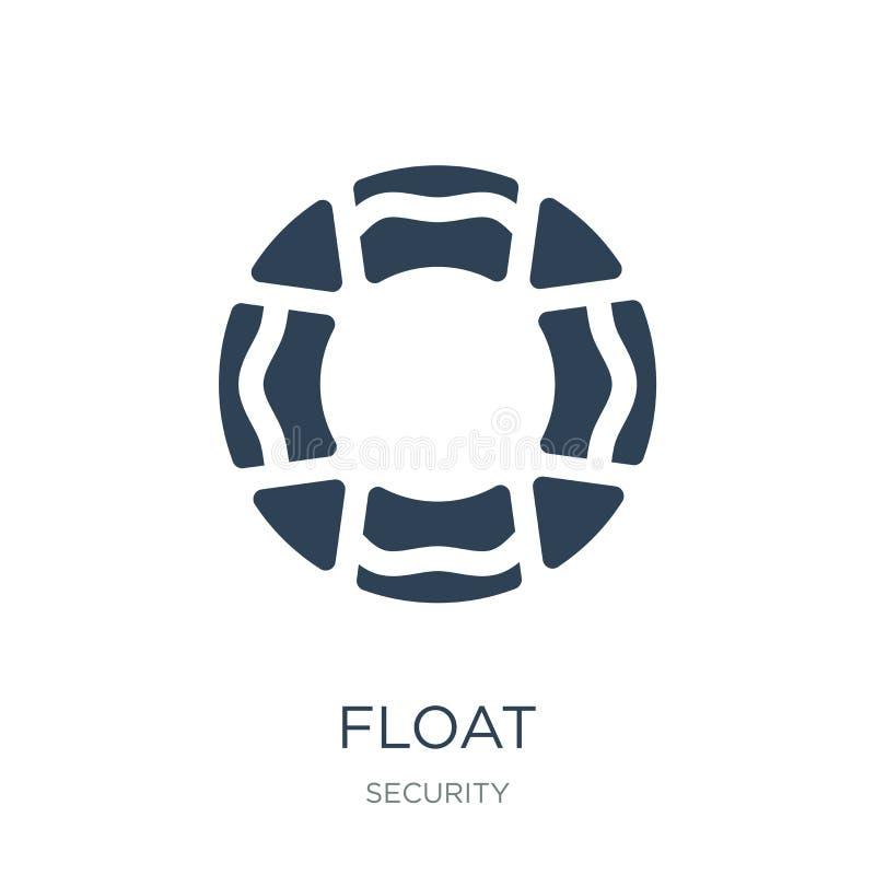 icône de flotteur dans le style à la mode de conception icône de flotteur d'isolement sur le fond blanc symbole plat simple et mo illustration libre de droits