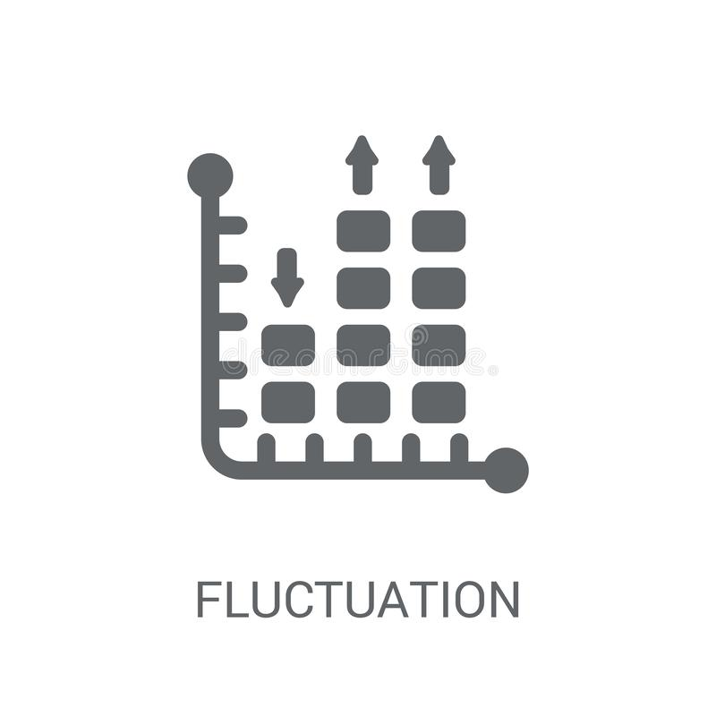 Icône de fluctuation Concept à la mode de logo de fluctuation sur le backg blanc illustration de vecteur