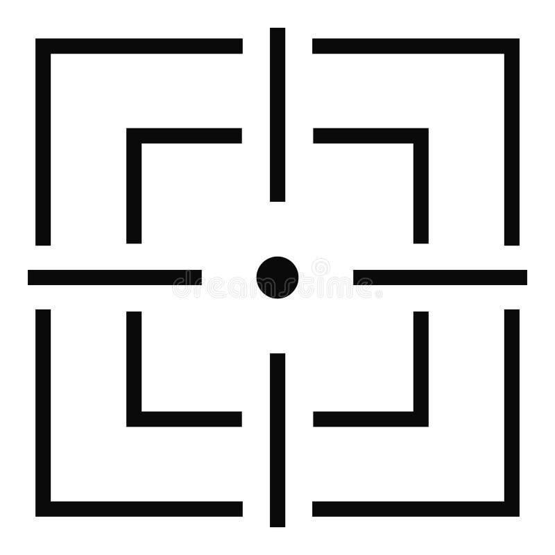 Icône de focalisation, style simple illustration libre de droits