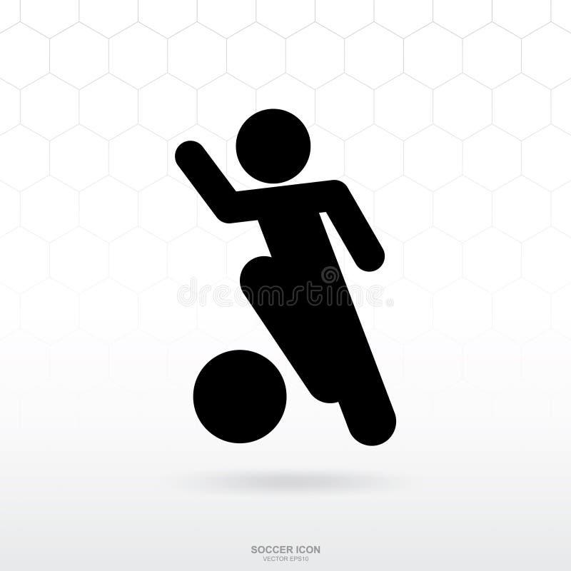 Icône de footballeur Le signe et le symbole de sport du football du football pour le calibre conçoivent illustration stock