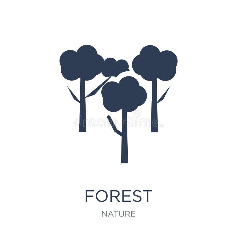 Icône de forêt  illustration stock