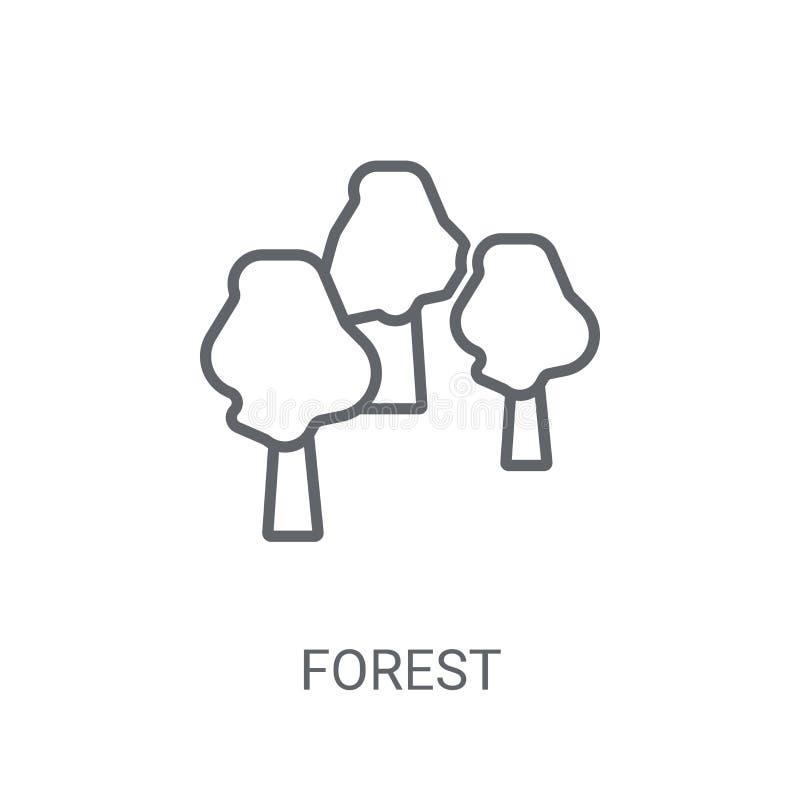 Icône de forêt Concept à la mode de logo de forêt sur le fond blanc de illustration de vecteur