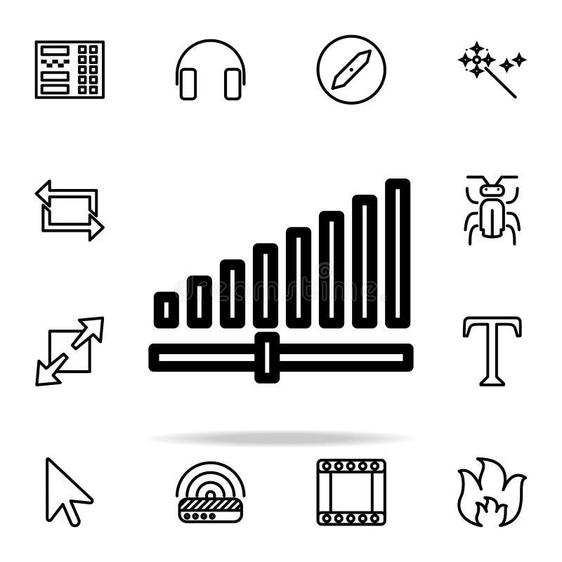 icône de force du signal ensemble universel d'icônes de Web pour le Web et le mobile illustration stock