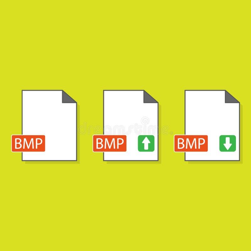 Icône de format de fichier de BMP, illustration de vecteur Style plat de conception illustration d'icône de format de fichier de  illustration de vecteur