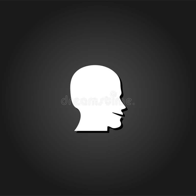 Icône de forme de visage d'homme à plat illustration libre de droits