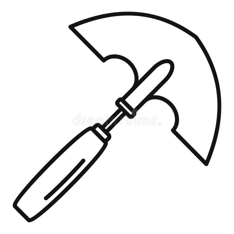 Icône de fouille de main, style d'ensemble illustration de vecteur