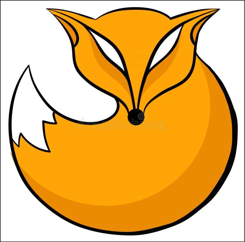 Icône de Fox ronde illustration de vecteur