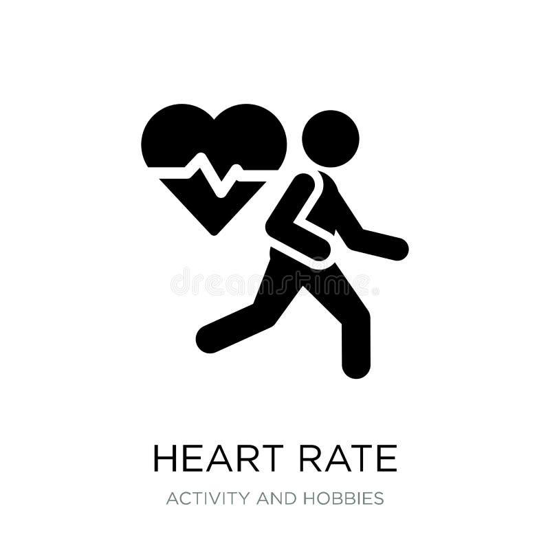 icône de fréquence cardiaque dans le style à la mode de conception icône de fréquence cardiaque d'isolement sur le fond blanc icô illustration libre de droits