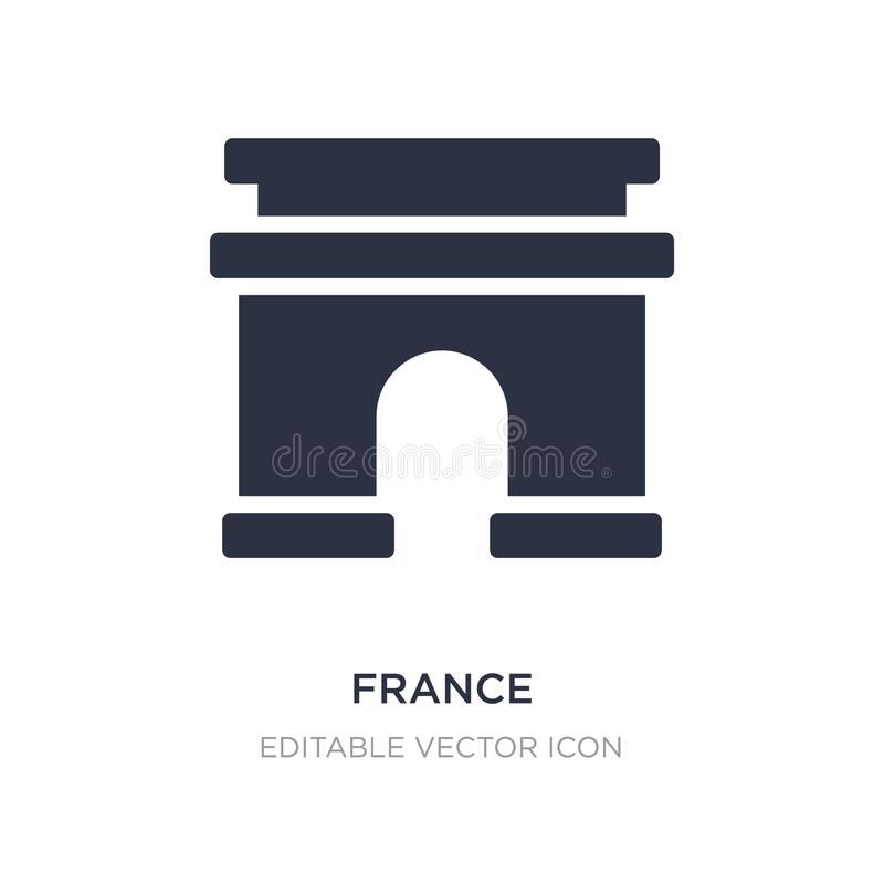 Icône de Frances sur le fond blanc Illustration simple d'élément de concept de voyage illustration stock
