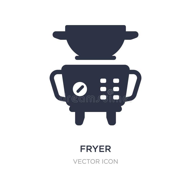 icône de friteuse sur le fond blanc Illustration simple d'élément de concept de technologie illustration de vecteur