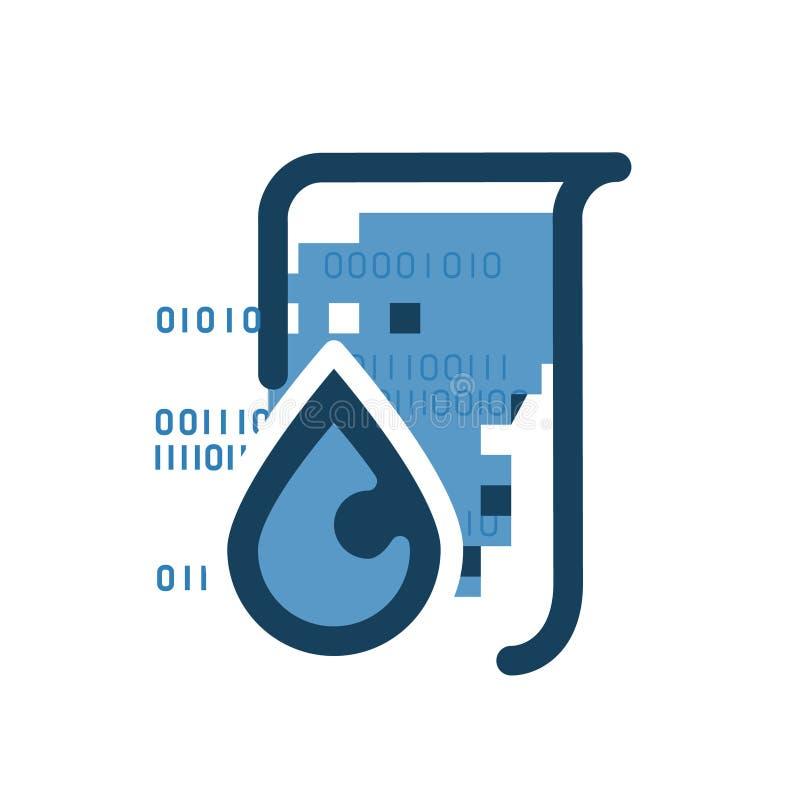 Icône de fuite de données illustration de vecteur