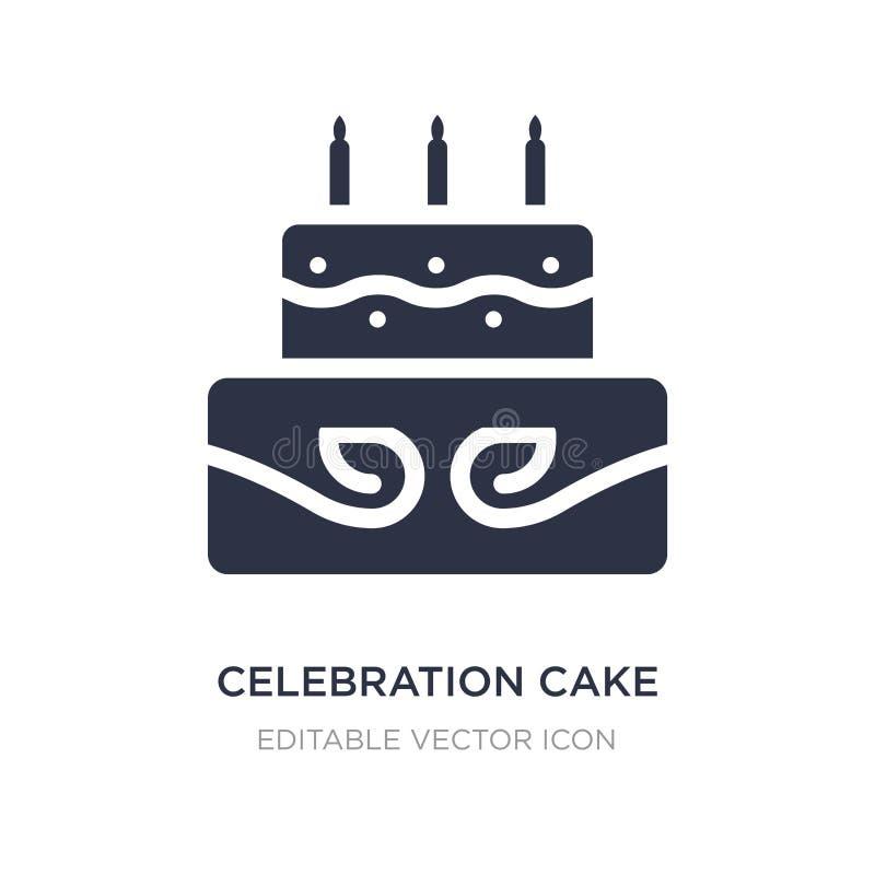 icône de gâteau de célébration sur le fond blanc Illustration simple d'élément de concept de nourriture illustration de vecteur