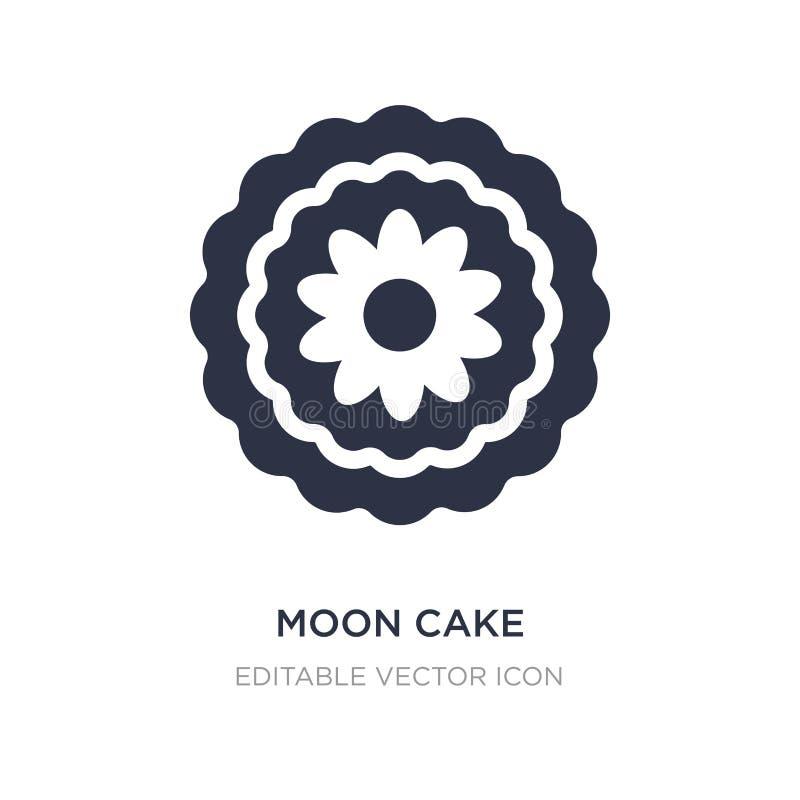 icône de gâteau de lune sur le fond blanc Illustration simple d'élément de nourriture et de concept de restaurant illustration de vecteur