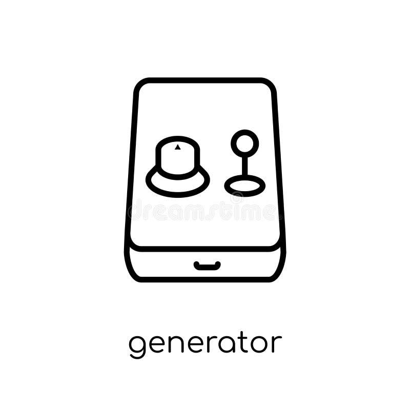 Icône de générateur de collection d'astronomie illustration stock
