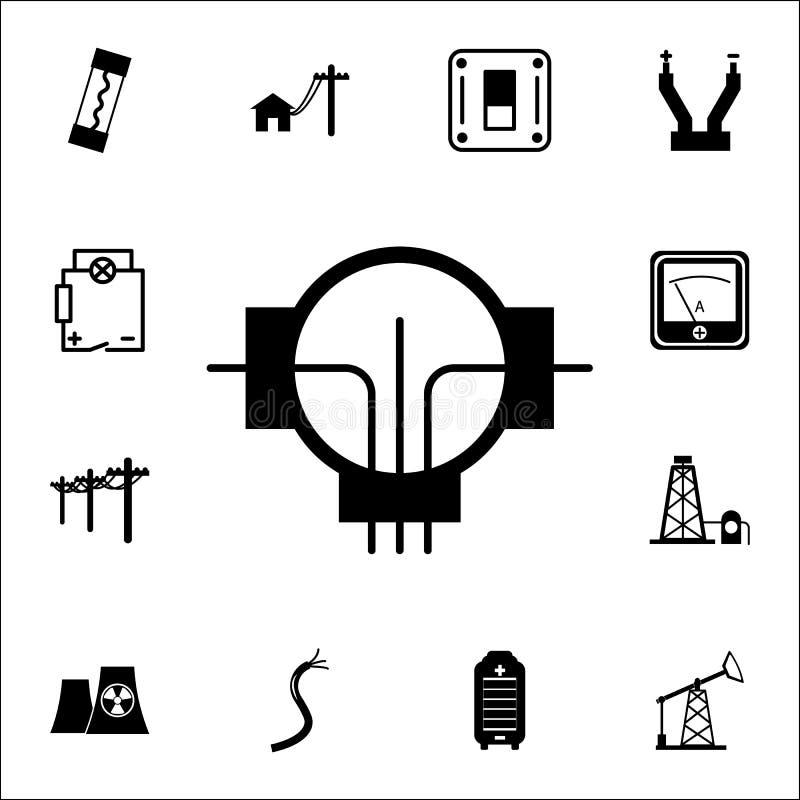 icône de générateur Ensemble d'icônes d'énergie Icônes de la meilleure qualité de conception graphique de qualité Signes et icône illustration libre de droits
