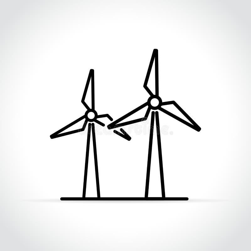 Icône de générateur de vent sur le fond blanc illustration stock