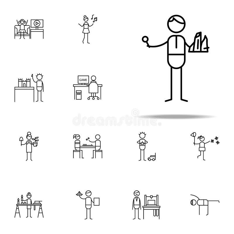 Icône de géologue ensemble universel d'icônes de hobbie pour le Web et le mobile illustration libre de droits