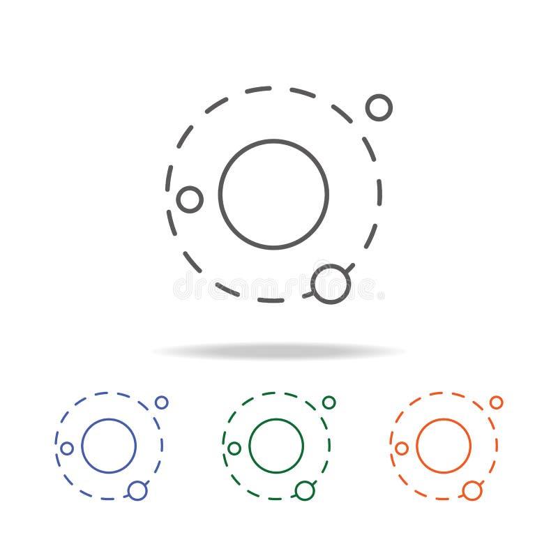 Icône de galaxie r Ligne mince icône pour la conception et le developm de site Web illustration stock