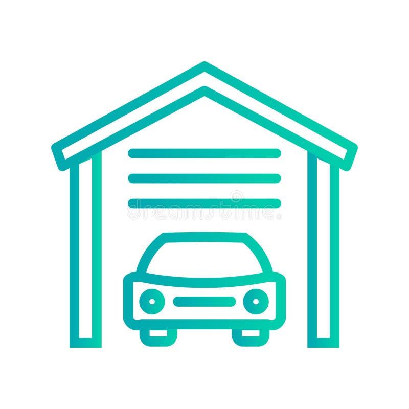 Icône de garage d'illustration illustration de vecteur