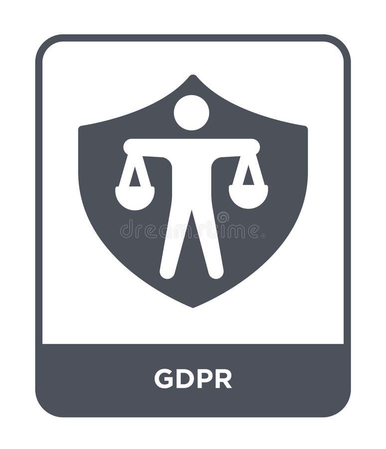 icône de gdpr dans le style à la mode de conception icône de gdpr d'isolement sur le fond blanc symbole plat simple et moderne d' illustration de vecteur