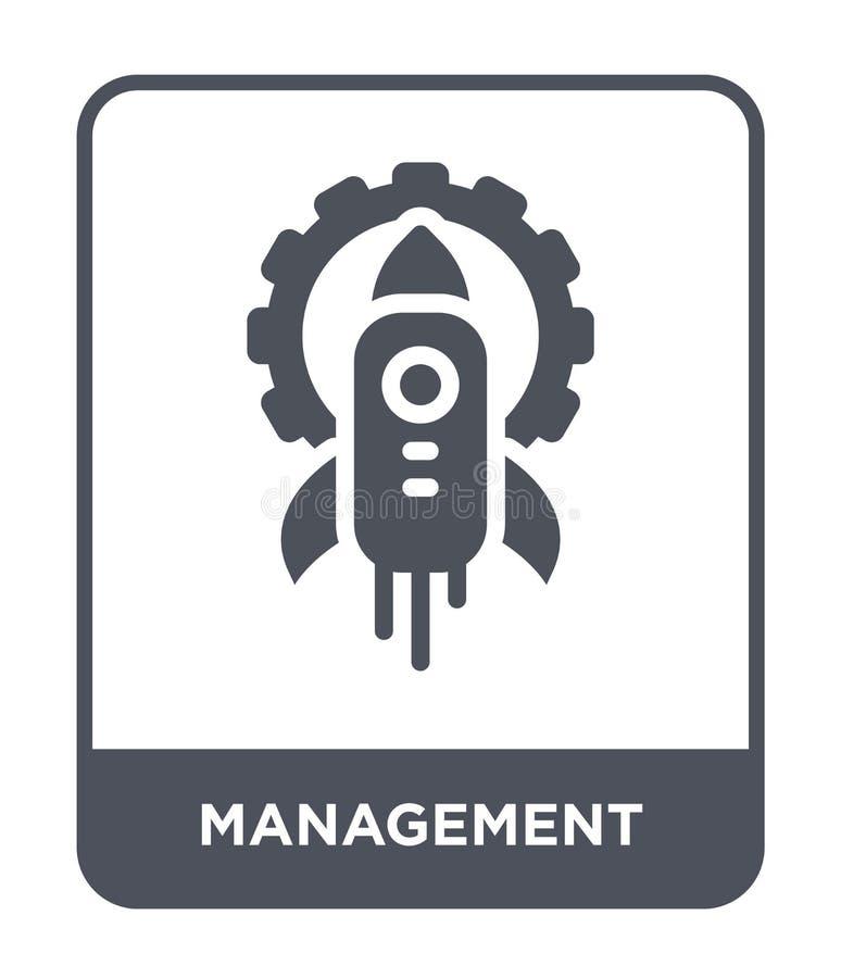 icône de gestion dans le style à la mode de conception icône de gestion d'isolement sur le fond blanc icône de vecteur de gestion illustration stock