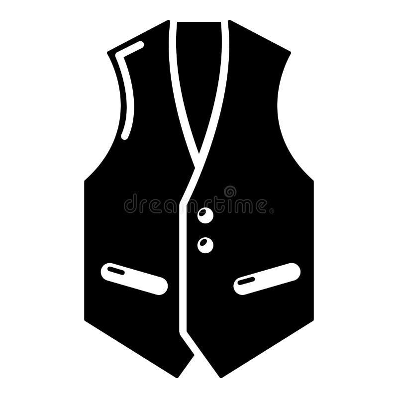 Icône de gilet, style noir simple illustration de vecteur
