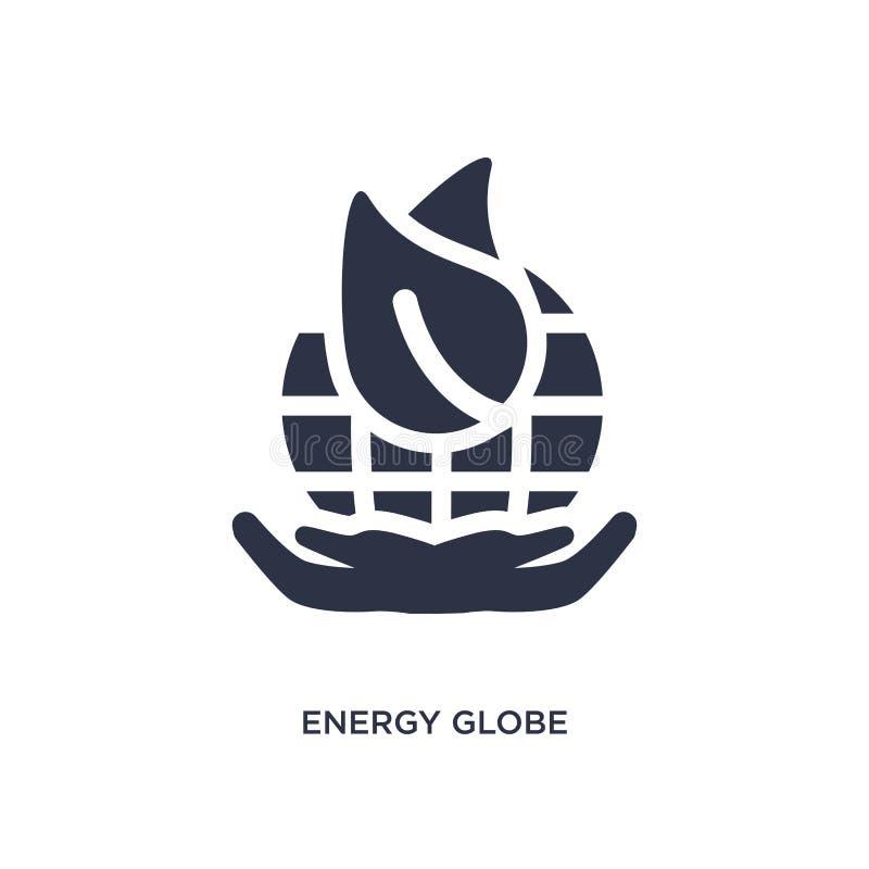 icône de globe d'énergie sur le fond blanc Illustration simple d'élément de concept d'écologie illustration libre de droits