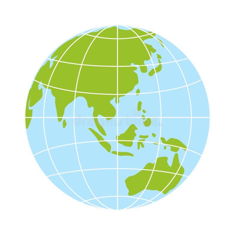 Icône de globe du monde logo de la terre de vecteur illustration globale de simbol de Web illustration de vecteur