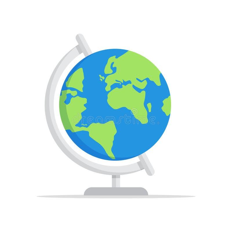 Icône de globe de la terre, illustration de vecteur illustration stock