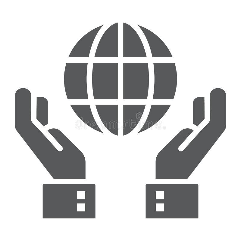 Icône de glyph de conservation de biosphère illustration de vecteur