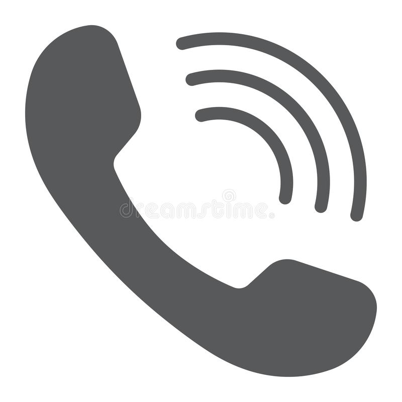 Icône de glyph d'appel téléphonique, communication illustration libre de droits