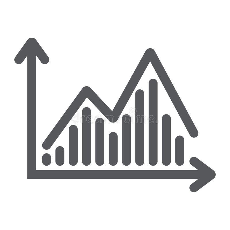 Icône de glyph de diagramme, graphique et finances courants, signe de diagramme de statistique, graphiques de vecteur, un modèle  illustration de vecteur