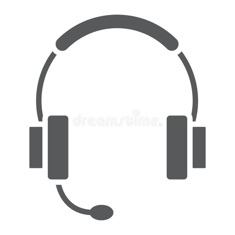 Icône de glyph de support technique, commerce électronique illustration de vecteur