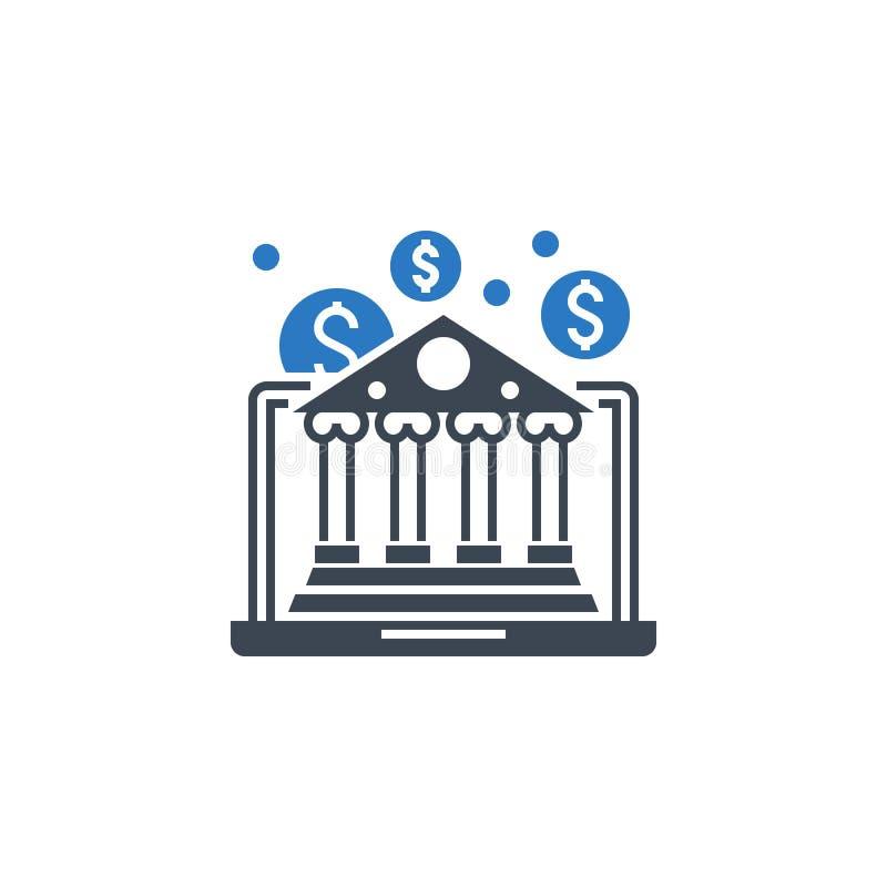 Icône de glyphe vectoriel lié à E-Banking illustration stock