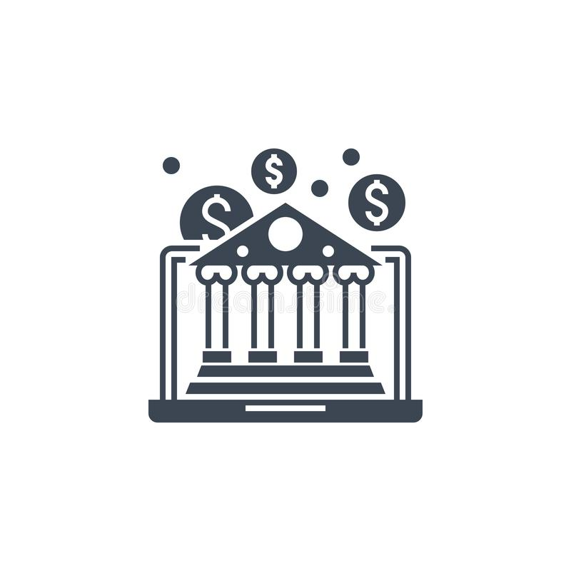 Icône de glyphe vectoriel lié à E-Banking illustration libre de droits