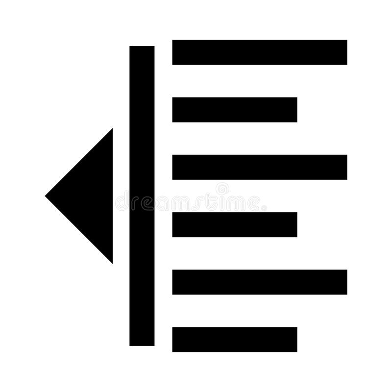 Icône de glyphs d'alignement illustration de vecteur