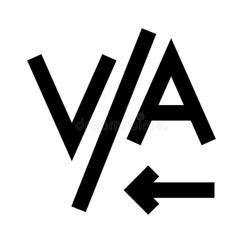 Icône de glyphs d'alignement illustration stock