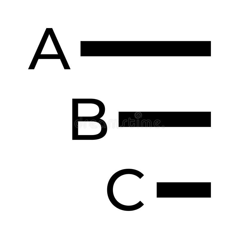 Icône de glyphs d'alignement illustration libre de droits