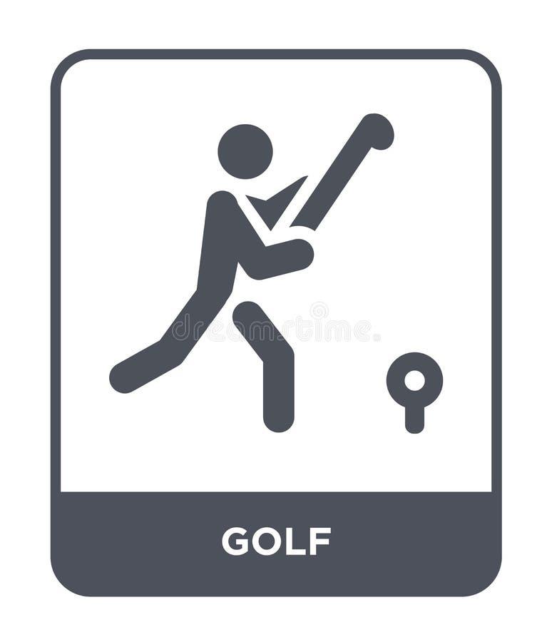 icône de golf dans le style à la mode de conception icône de golf d'isolement sur le fond blanc symbole plat simple et moderne d' illustration de vecteur