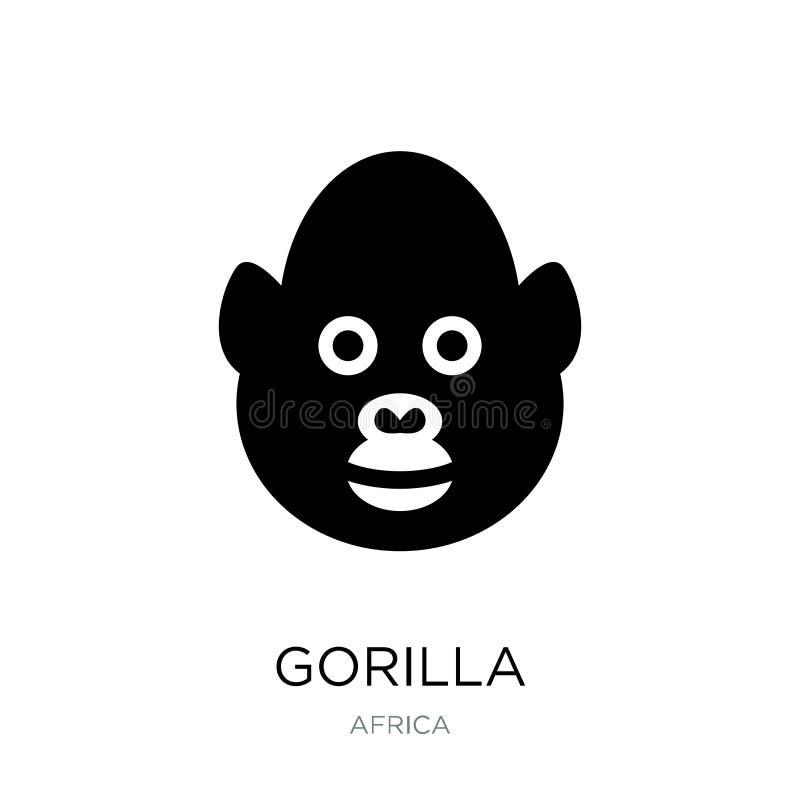 icône de gorille dans le style à la mode de conception icône de gorille d'isolement sur le fond blanc symbole plat simple et mode illustration libre de droits