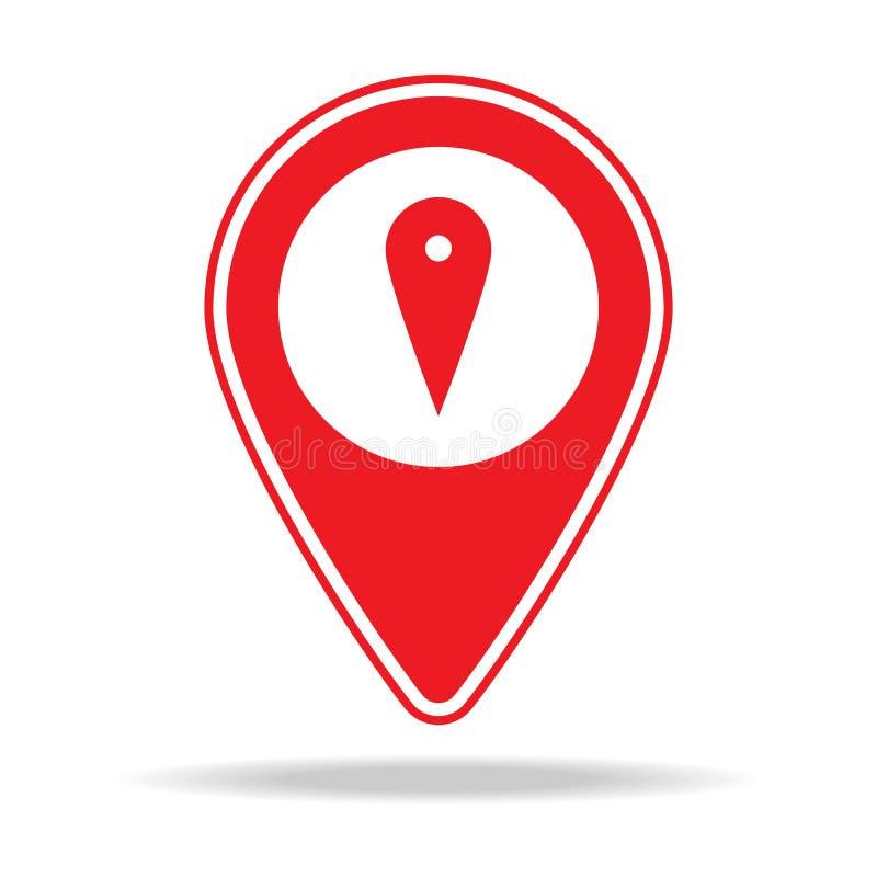 Icône de goupille de carte Élément d'icône d'avertissement de goupille de navigation pour les apps mobiles de concept et de Web L illustration libre de droits