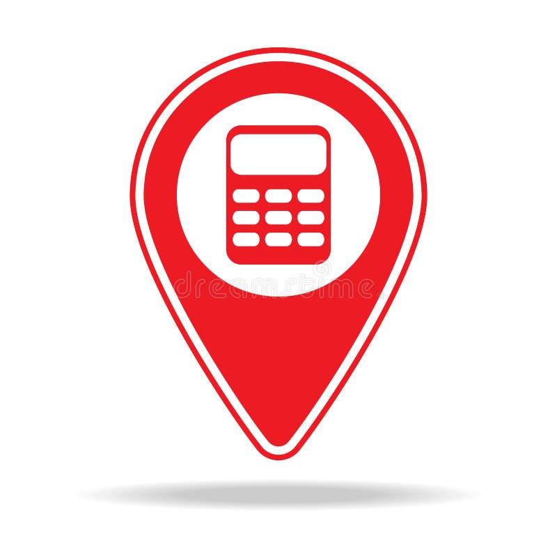 icône de goupille de carte de comptabilité Élément d'icône d'avertissement de goupille de navigation pour les apps mobiles de con illustration libre de droits