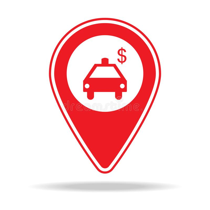 icône de goupille de carte de concessionnaire automobile Élément d'icône d'avertissement de goupille de navigation pour les apps  illustration stock